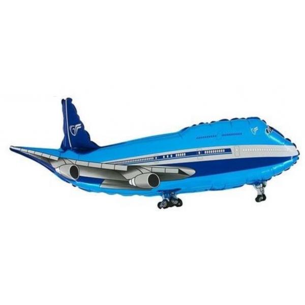 Avion bleu forme 81cm X 64cm