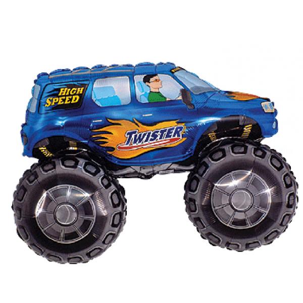 voiture bleu grandes roues forme 68*96cm