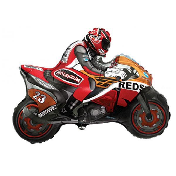 moto rouge en mylar 70 *84cm