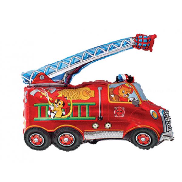 Camion pompier en mylar 78 *78cm