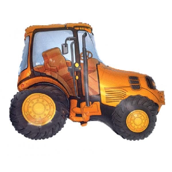 Tracteur Jaune forme 73*95cm