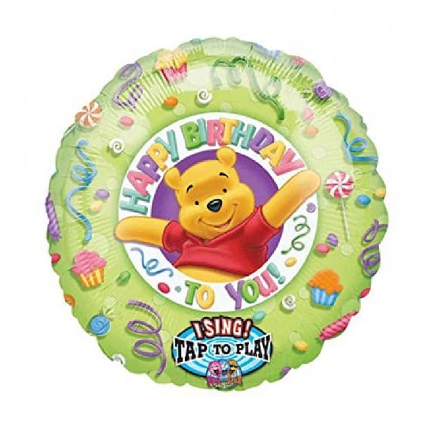 Winnie Happy birthday 71cm vendu non gonflé