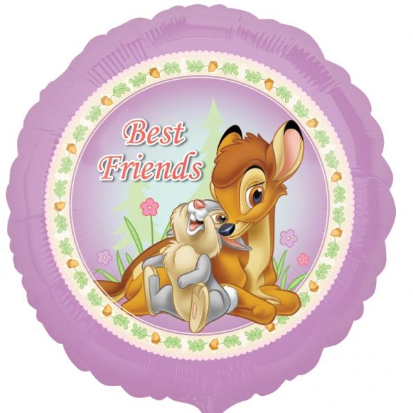 Bambi Best friends ballon mylar rond 45 cm