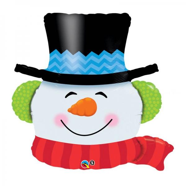 Bonhomme de neige ballon mylar 91 cm