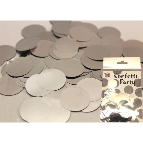 15 grammes confettis argent 25 mm