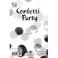 Confettis rond mélange blanc noir argent 15 grs 25mmØ