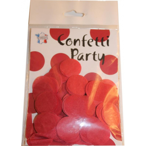 Confetti rond rouge 15 grs 25mmØ