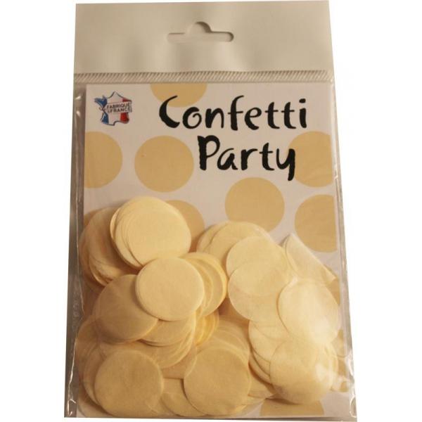 Confetti rond crème 15 grs 25mmØ