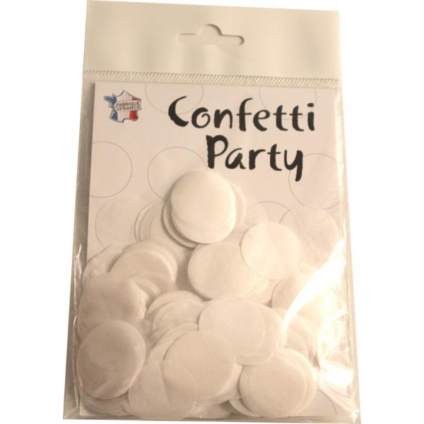 Confettis ronds blanc 15 grs 25mmØ