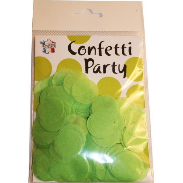 Confettis ronds vert pomme 15 grs 25mmØ