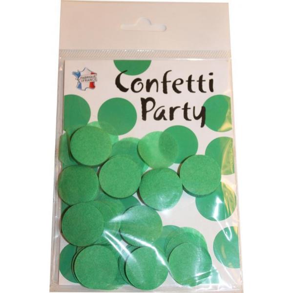 Confettis ronds vert prairie 15 grs 25mmØ