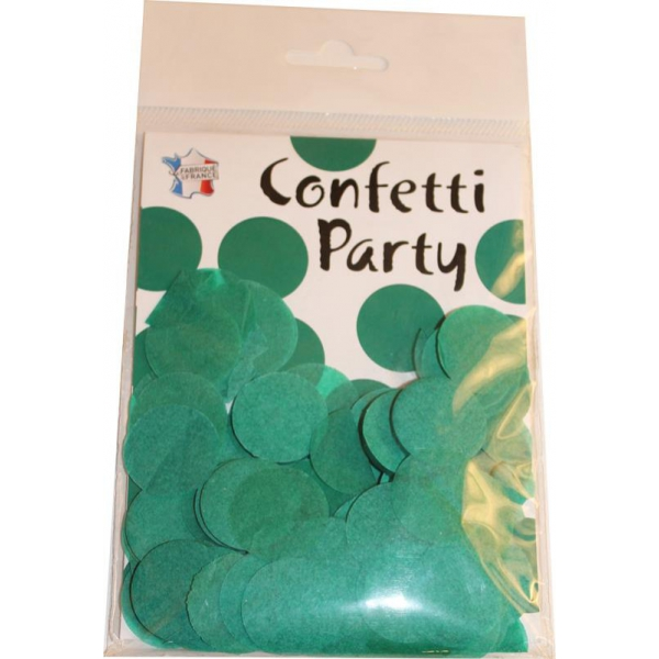 Confettis ronds vert jade15 grs 25mmØ