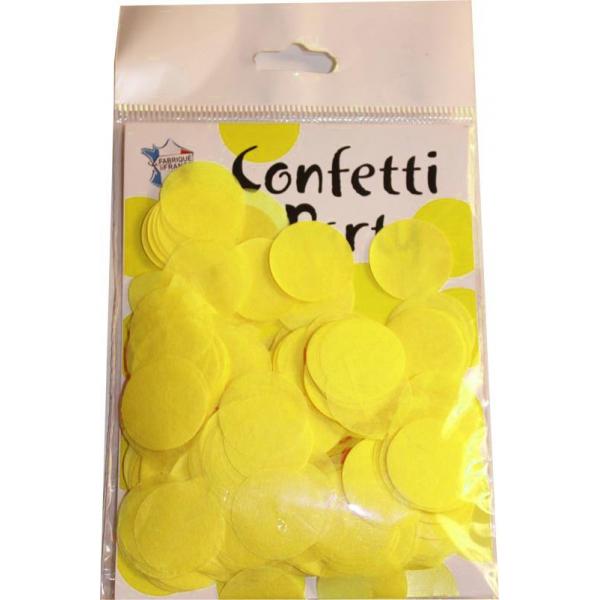 Confetti rond jaune 15 grs 25mmØ