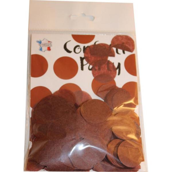 Confetti rond chocolat 15 grs 25mmØ