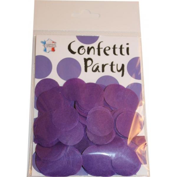Confetti rond violet 15 grs 25mmØ