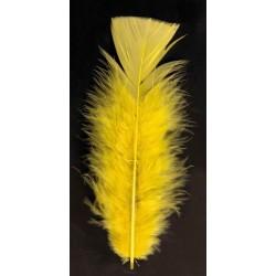 poche de 50 plumes jaune pieds plat 10 cm