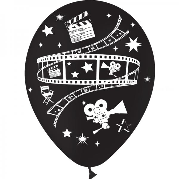 25 ballons noir 28 cm sur le thème du cinéma