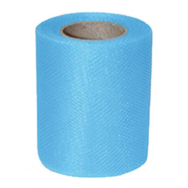 tulle turquoise uni 10cm*20m