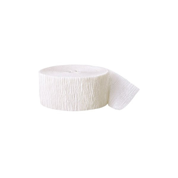 Rouleau blanc papier crépon 4,4 cm *24.6m
