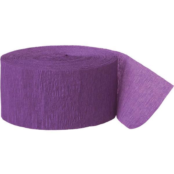 Rouleau violet papier crépon 4,4 cm *24.6m