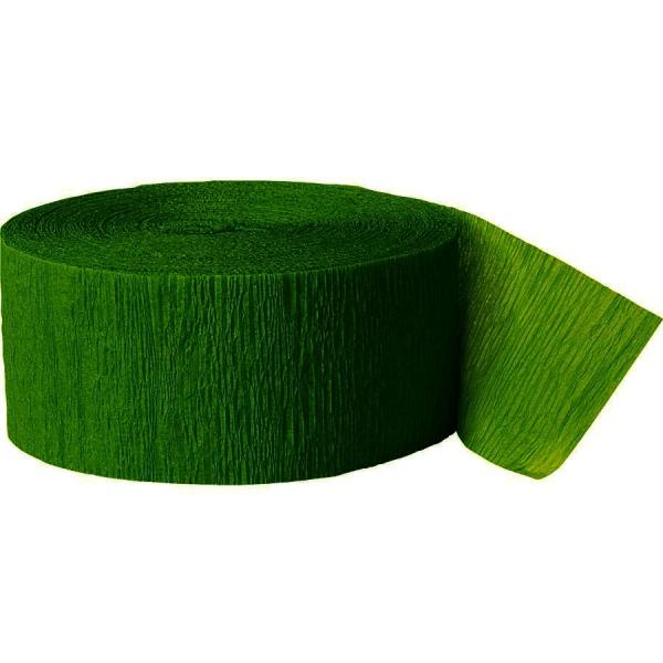 Rouleau vert foret papier crépon 4,4 cm *24.6m
