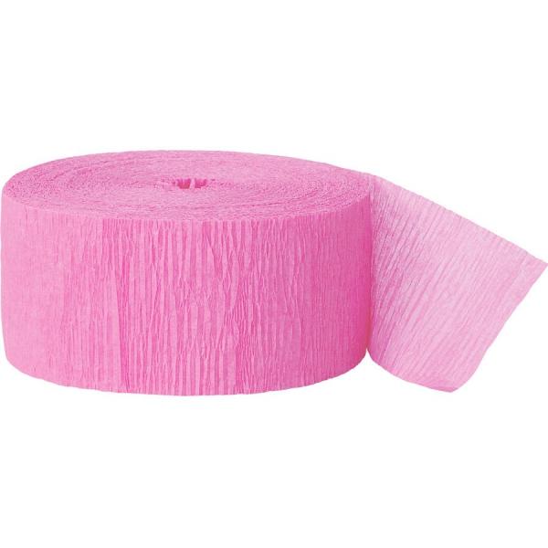 Rouleau rose papier crépon 4,4 cm *24.6m