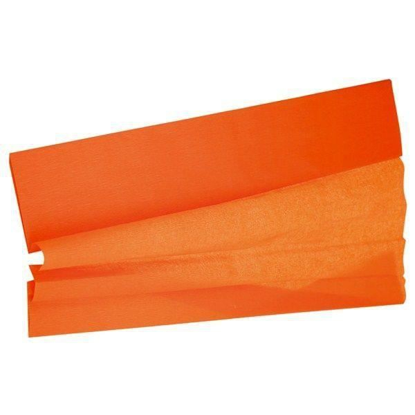 feuille papier crépon orange 0.5 m * 2 m