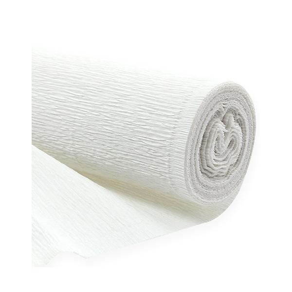 rouleau papier crépon blanc 0.5 m *10 m