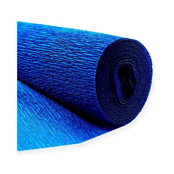 rouleau papier crépon bleu 0.5 m * 10 m