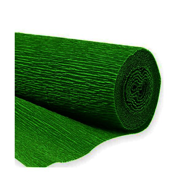 rouleau papier crépon vert foret 0.5 m * 10 m