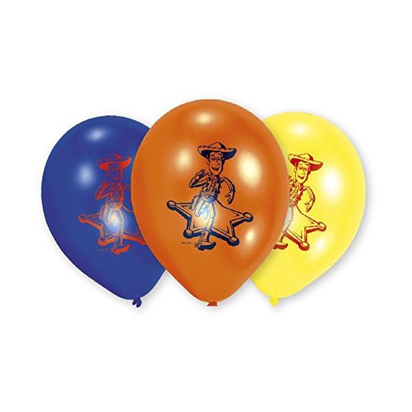 6 ballons Toy story 23 cm imprimé 1 face