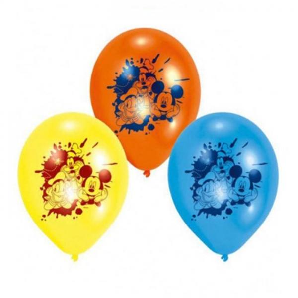 6 ballons Mickey et amis 23 cm