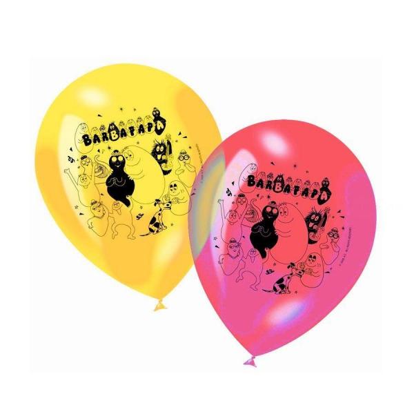 6 ballons Barbapapa 23 cm imprimé 1 face