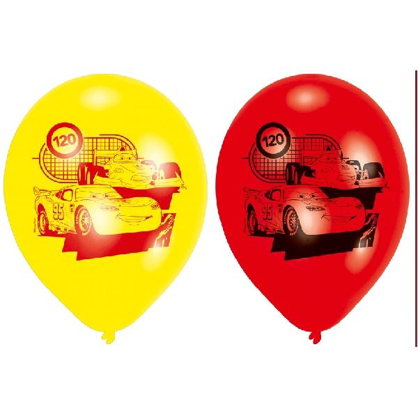 Cars 6 ballons 23 cm imprimé une face