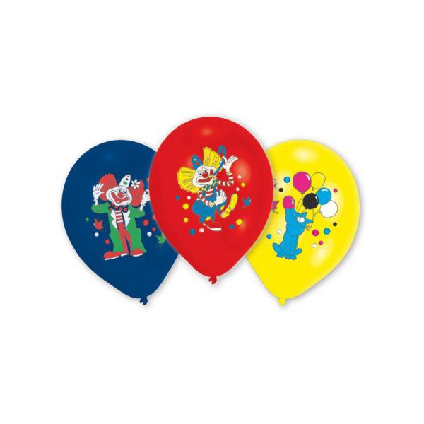 8 ballons clown 23 cm imprimé 1 face