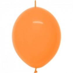 Link o loon 30 cm couleur opaque orange 061 SEMPERTEX Double Attaches 30Cm Opaques Vifs Et Pastels