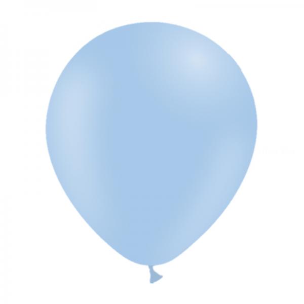 25 ballons bleu ciel pastel mate 14 cm
