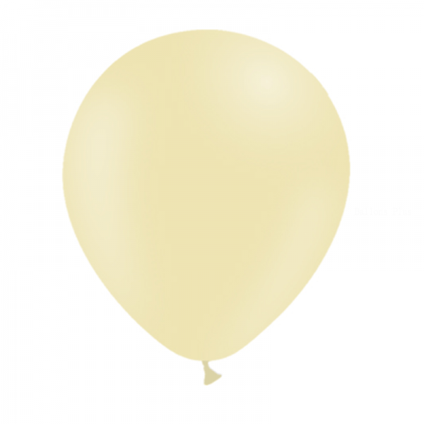 25 ballons jaune pastel mate 14 cm