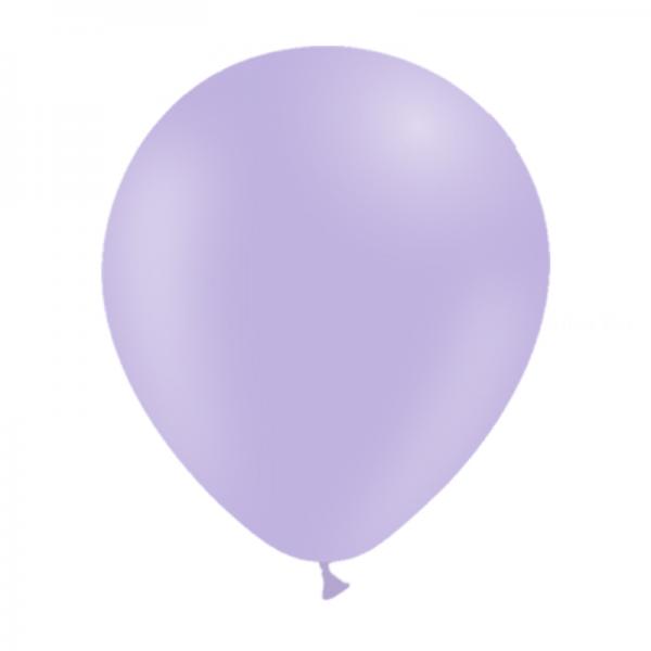 25 ballons lavande pastel mate 14 cm