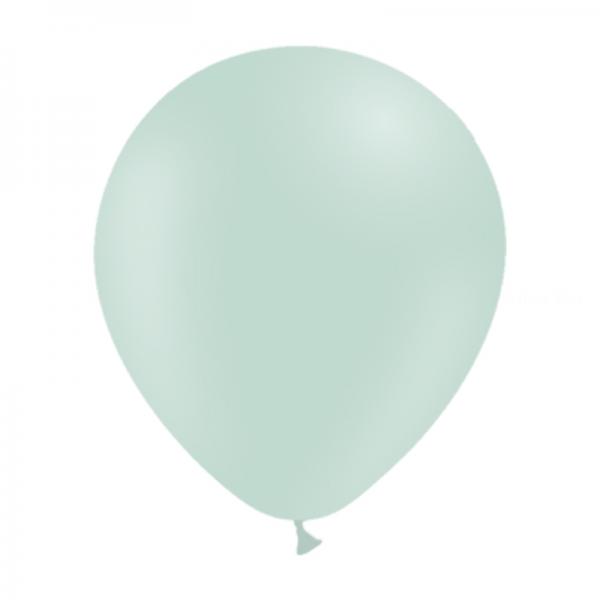 10 ballons Menthe pastel matte opaque 30cm