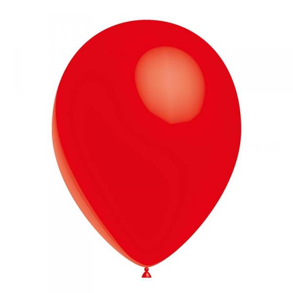 25 ballons standard rouge opaque 14 cm