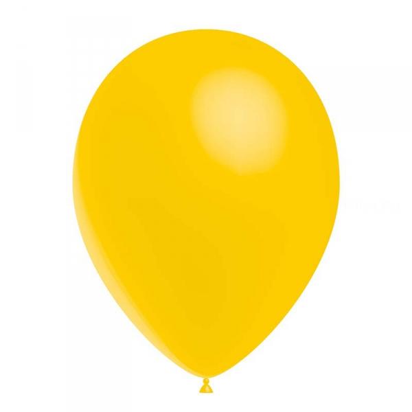 25 ballons Jaune d'or opaque 14 cm