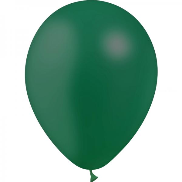 100 ballons vert fôret opaque 14 cm