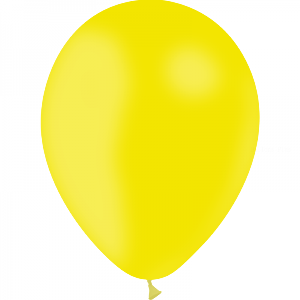 25 ballons Jaune citron opaque 14 cm