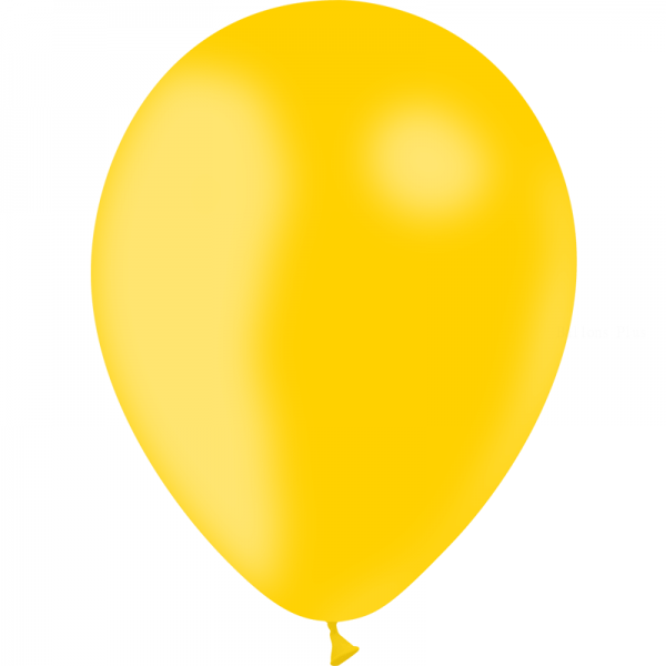 10 ballons Jaune d'or opaque 30 cm