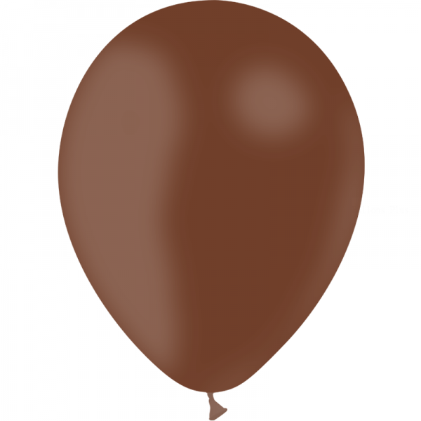 10 ballons chocolat opaque 30cm