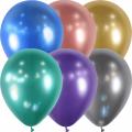 25 ballons assortis effet miroir 12.5cm852929 BALOONIA 14 cm métal opaque eco lux Espagne