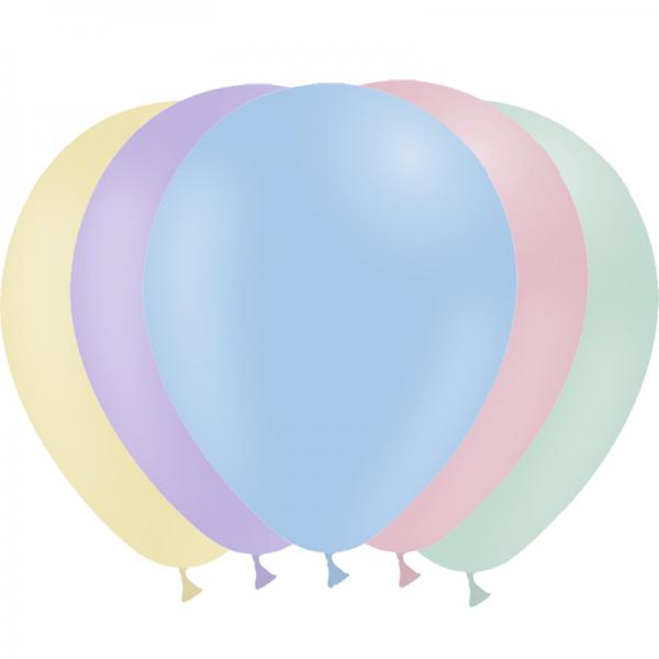 25 ballons pastel mate 14 cm