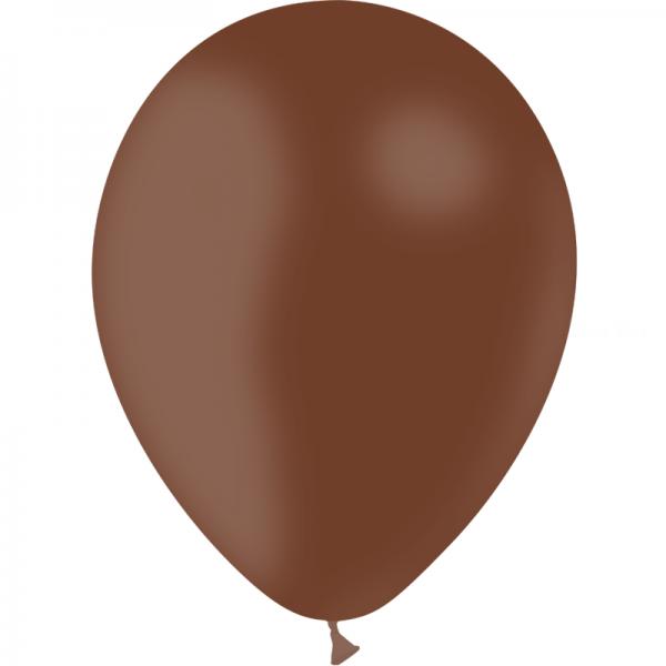 25 ballons chocolat opaque 14 cm