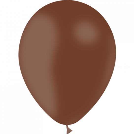100 ballons chocolat opaque 14 cm